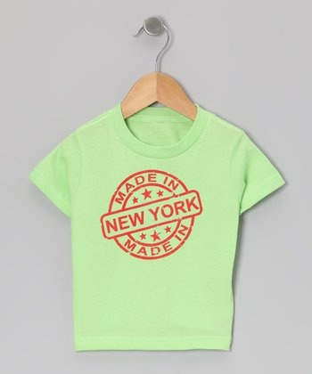 Key lime 'Made in New York' Tee - Toddler & Kids