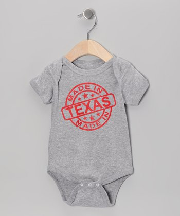 Athletic Heather 'Made in Texas' Bodysuit - Infant