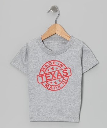 Athletic Heather 'Made in Texas' Tee - Toddler & Kids