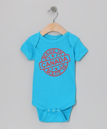 Turquoise 'Made in Canada' Bodysuit - Infant