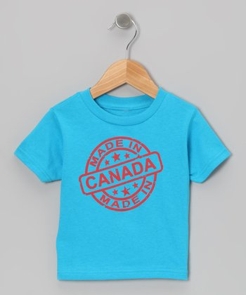 Turquoise 'Made in Canada' Tee - Toddler & Kids