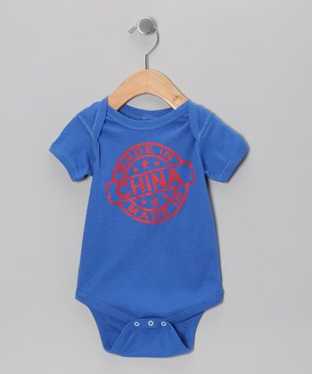 Royal Blue 'Made in China' Bodysuit - Infant