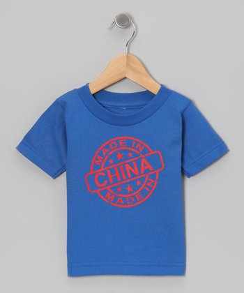 Royal Blue 'Made in China' Tee - Toddler & Kids