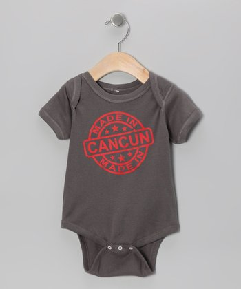Charcoal 'Made in Cancun' Bodysuit - Infant