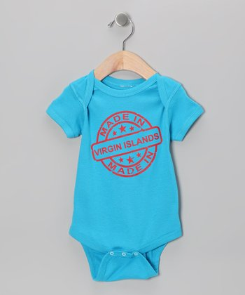 Turquoise 'Made in Virgin Islands' Bodysuit - Infant