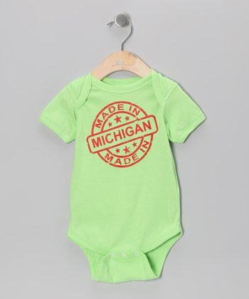 Key Lime 'Made in Michigan' Bodysuit - Infant