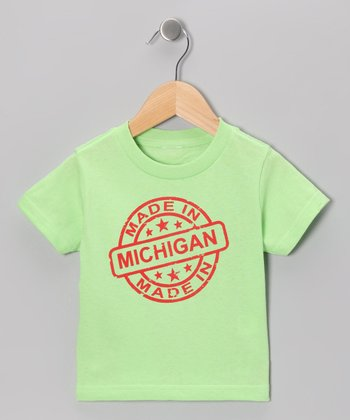 Key Lime 'Made in Michigan' Tee - Toddler & Kids