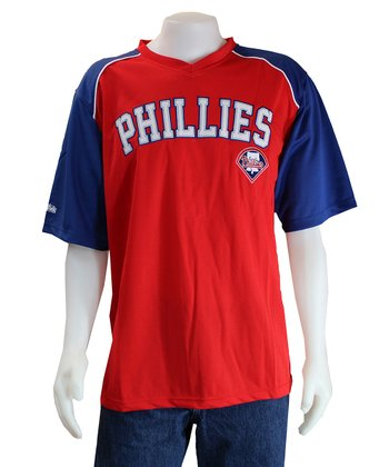 Red & Royal Philadelphia Phillies V-Neck Jersey