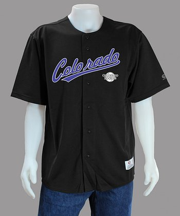 Black Colorado Rockies Jersey - Men