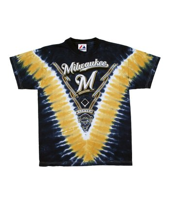 Milwaukee Brewers V Tie-Dye Tee - Boys