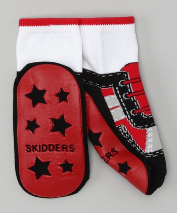Red Cool Sneaker Gripper Socks
