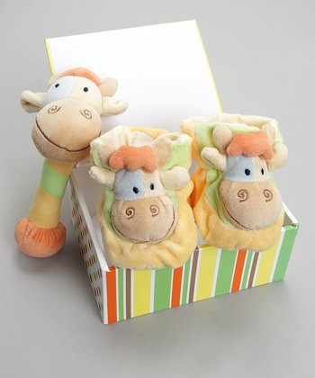Butter Jazzy the Giraffe Booties & Rattle