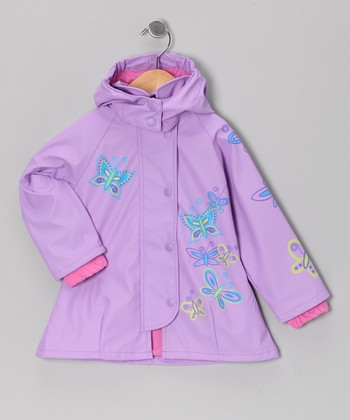 Lilac Butterfly Raincoat - Infant, Toddler & Girls
