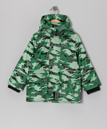 Camo Cargo Pocket Raincoat - Infant, Toddler & Boys