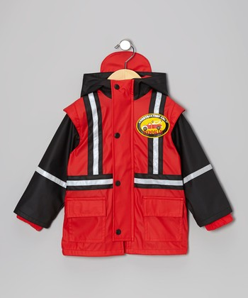 Red Construction Rookie Raincoat - Infant, Toddler & Boys