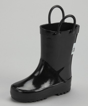 Black 'Drench' Rain Boot