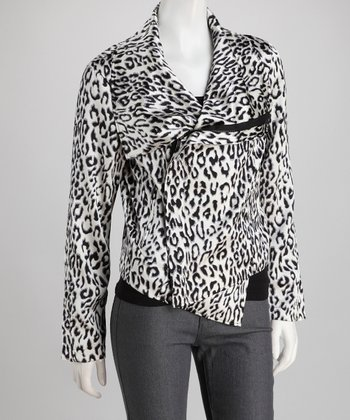 Snow Leopard Gabriella Silk-Blend Jacket