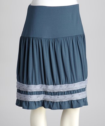 Steel Blue Gretchen Skirt - Women & Plus