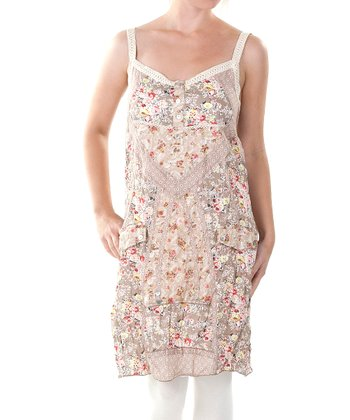 Clay Floral Henley Camisole Dress - Women & Plus