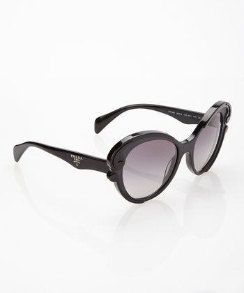 Black & Gray Flare Sunglasses