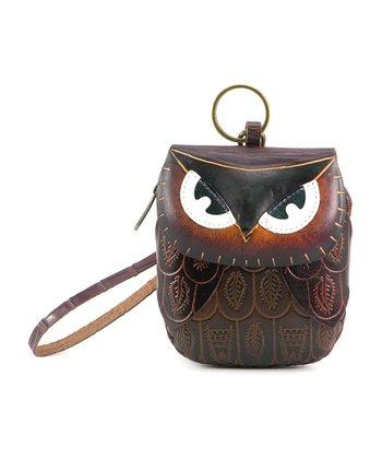 Dark Brown Owl Coin Purse