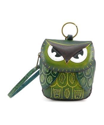 Green Owl Coin Purse
