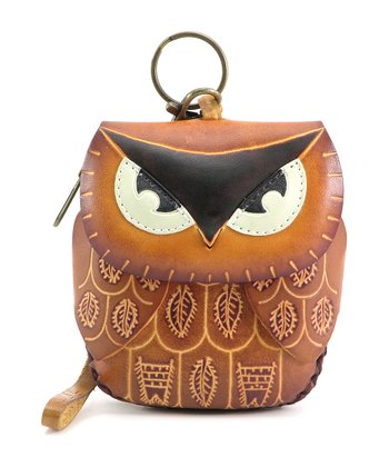 Light Brown Owl Coin Purse