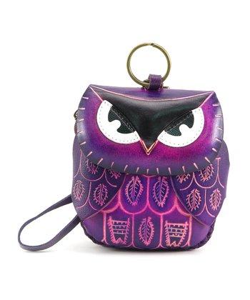 Purple Owl Coin Purse