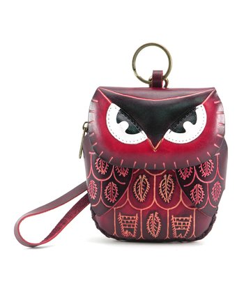 Red Owl Coin Purse