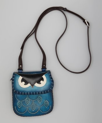 Blue Owl Leather Purse
