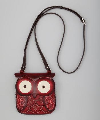 Red Owl Leather Shoulder Bag