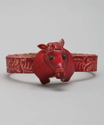 Red Horse Leather Bracelet