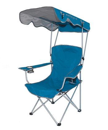 Blue Canopy Foldable Chair