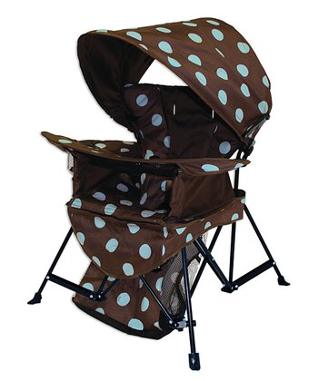 Brown & Blue Go With Me Canopy Chair