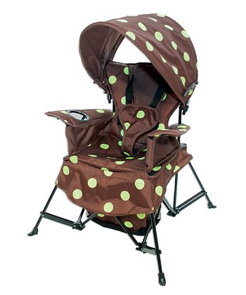 Brown & Green Go With Me Canopy Chair