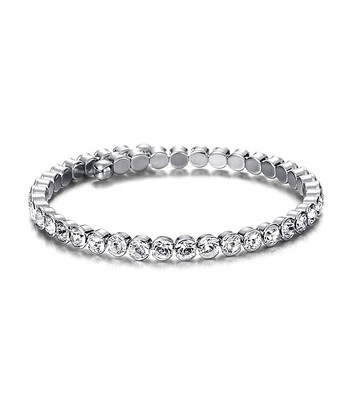 Silver Tennis Bracelet Made With SWAROVSKI ELEMENTS