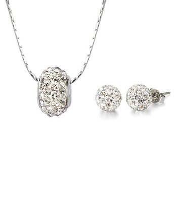 Czech Crystal & Silver Meridian Necklace & Earrings