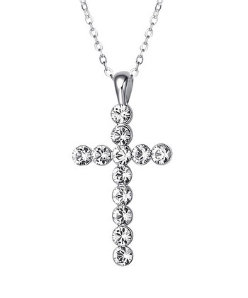 Silver Cross Necklace Made With SWAROVSKI ELEMENTS
