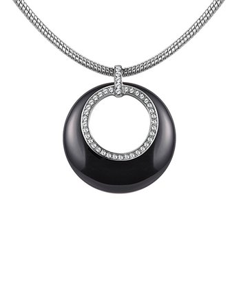 Crystal SWAROVSKI ELEMENTS & Black Sunrise Pendant Necklace