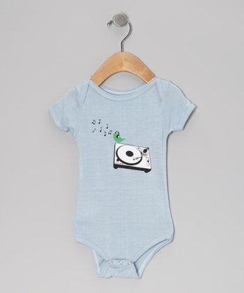 Light Blue Bird DJ Organic Bodysuit