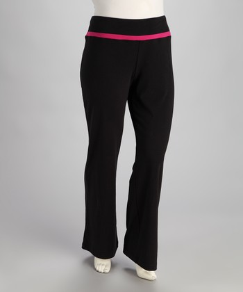 Black & Pink Faith Yoga Pants - Plus