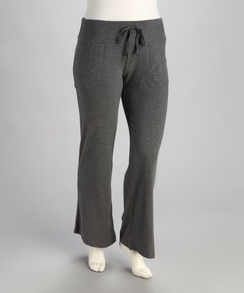 Gray Pocket Lounge Pants - Plus