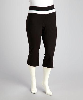 Black Lounge Capri Pants - Plus