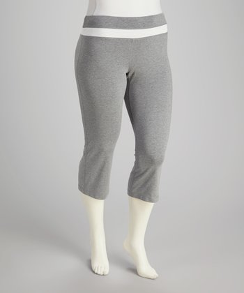 Gray Lounge Capri Pants - Plus
