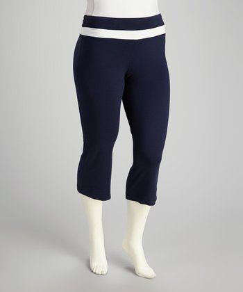 Navy Lounge Capri Pants - Plus