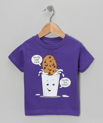 Purple Milk & Cookies Tee - Infant, Toddler & Kids