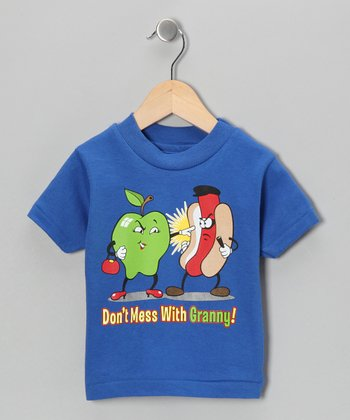 Royal Blue 'Don't Mess With Granny!' Tee - Toddler & Kids