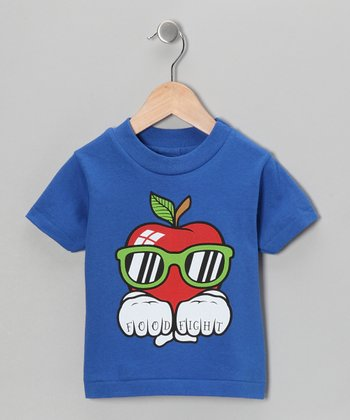 Royal Blue 'Food Fight' Apple Tee - Infant, Toddler & Kids