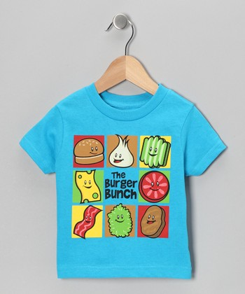 Turquoise 'The Burger Bunch' Tee - Infant, Toddler & Kids