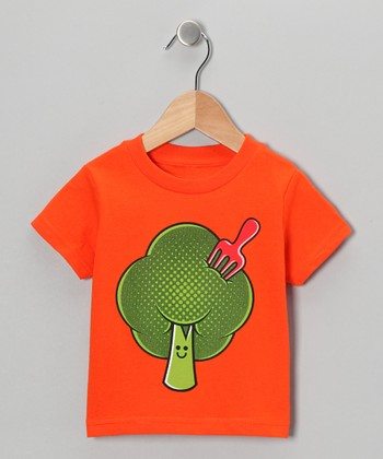 Orange Broccoli 'Fro Tee - Toddler & Kids
